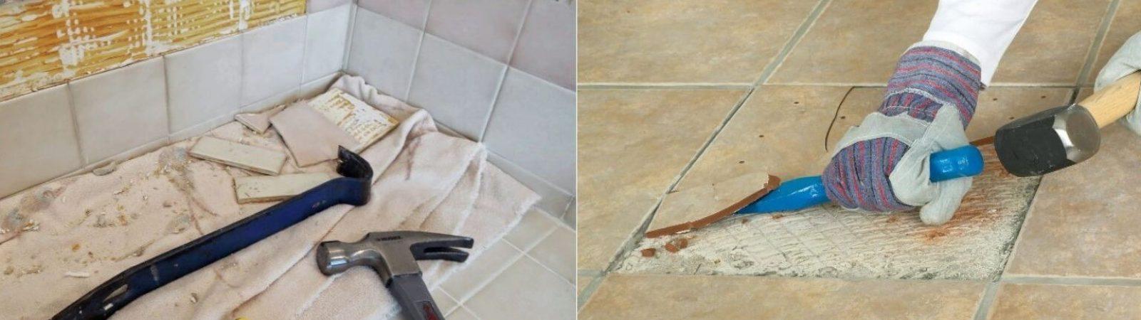 Демонтаж плитки: как снять старую плитку