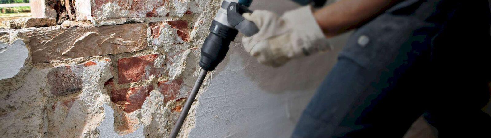 Как демонтировать бетонную стену