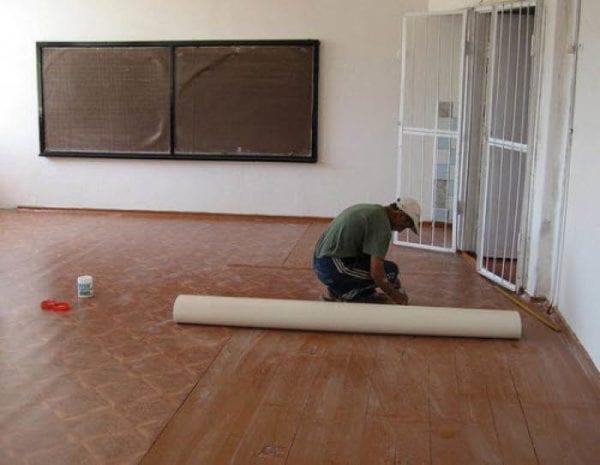 Подготовка деревянного пола под линолеум