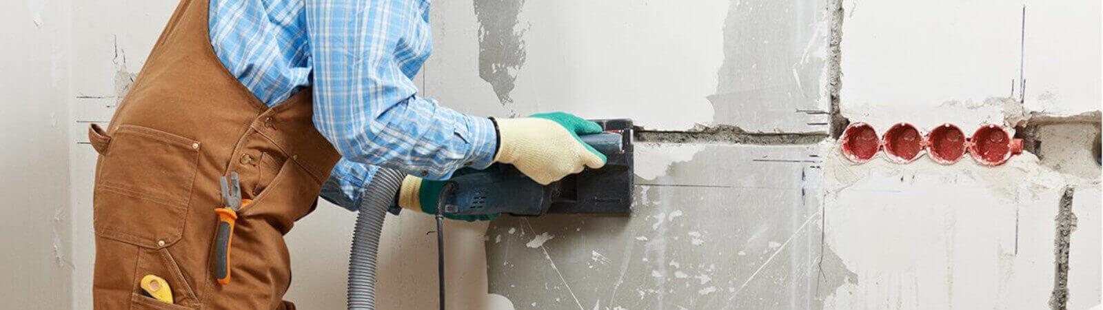 Як штробити стіни під проводку без пилу