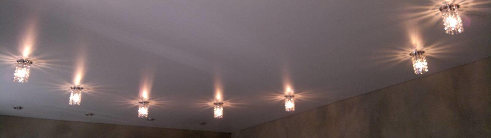 Способы установки светильников на потолок