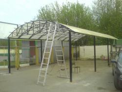 Сварка изготовление навеса в Харькове недорого
