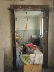 Усиление проема кухня комната панельный дом